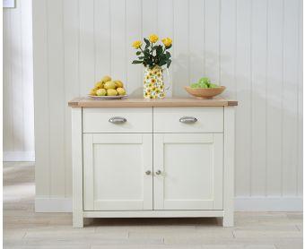 Somerset 2 Door 2 Drawer Oak and Cream Sideboard
