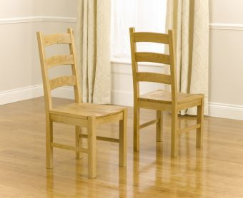 Vermont Solid Oak Dining Chairs (Pairs)