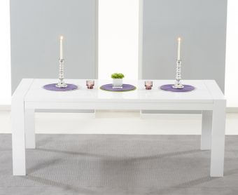 Venice 200cm White High Gloss Extending Dining Table