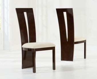 Verbier Brown Solid Wood Dining Chairs (Pairs)