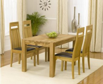 Verona 120cm Solid Oak Dining Table with Monaco Chairs