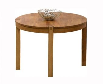 Verona 110cm Solid Oak Round Dining Table