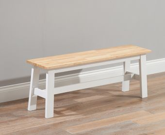 Chiltern Oak and White Large Bench