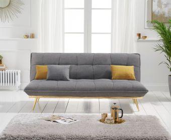Yolanda 3 Seater Sofa Bed in Grey Linen