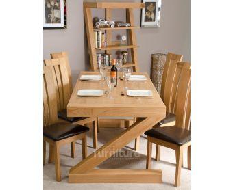 Z Solid Oak 180cm Dining Table