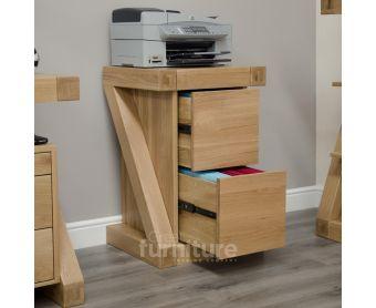 Z Solid Oak Filing Cabinet