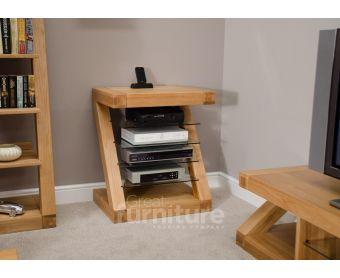 Z Solid Oak 90cm TV Unit