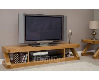 Z Solid Oak 180cm TV Unit