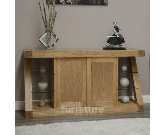 Z Solid Oak Designer Large Sideboard