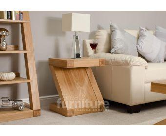Z Solid Oak Side Table