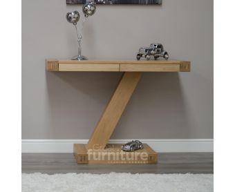 Z Solid Oak Designer Hall Table