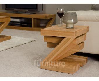 Z Solid Oak Nest of 3 Tables