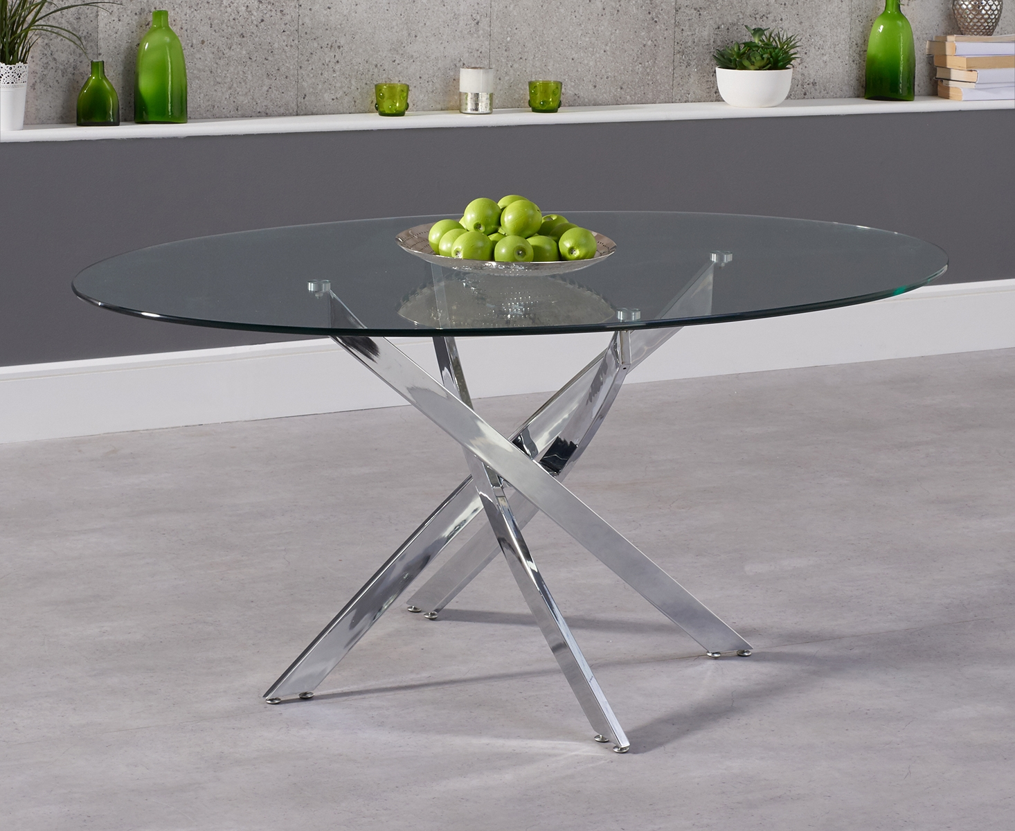 An image of Denver 165cm Glass Dining Table