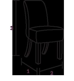 Tolix Grey & Oak Chairs Dimensions