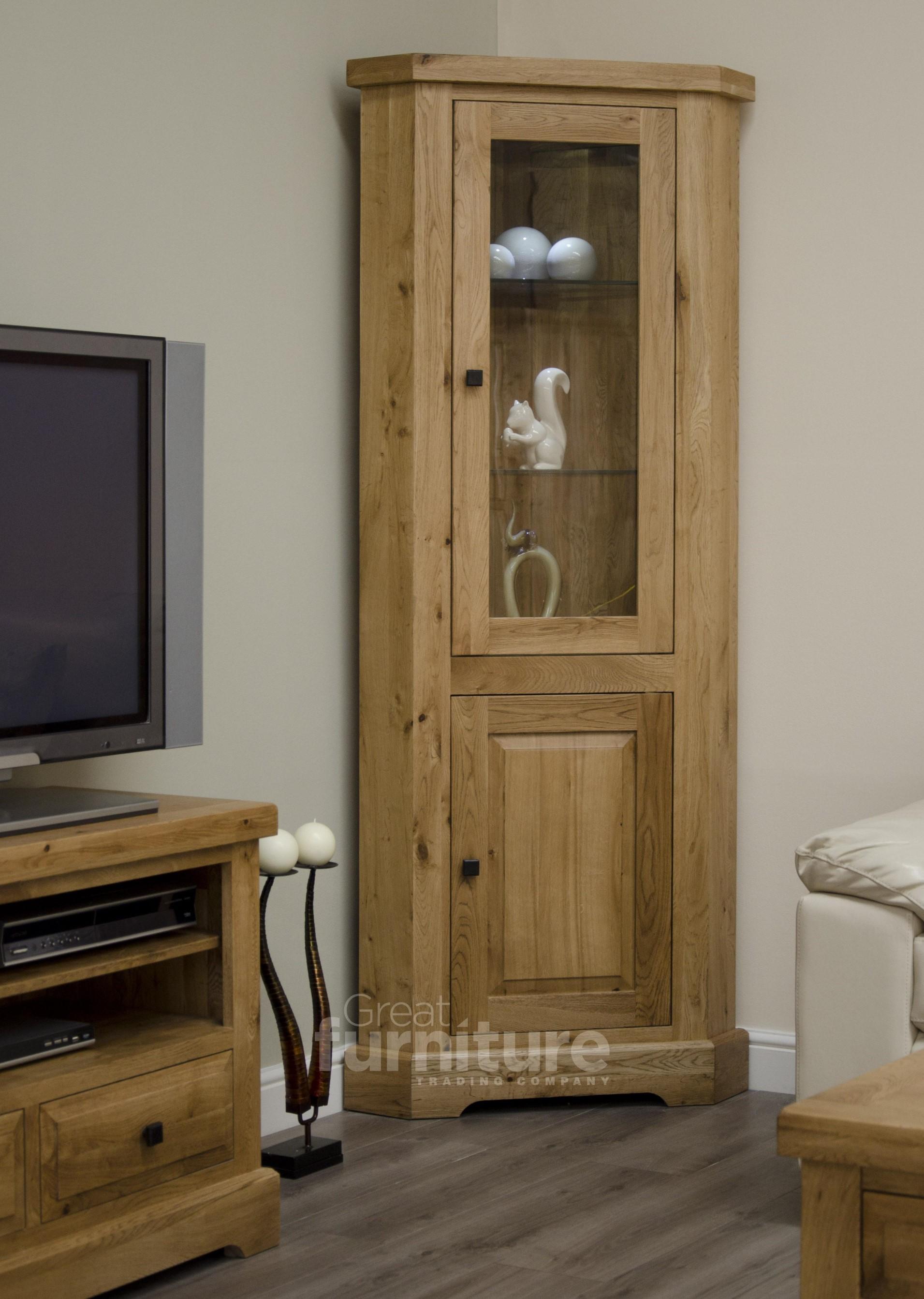 Deluxe Corner Display Cabinet