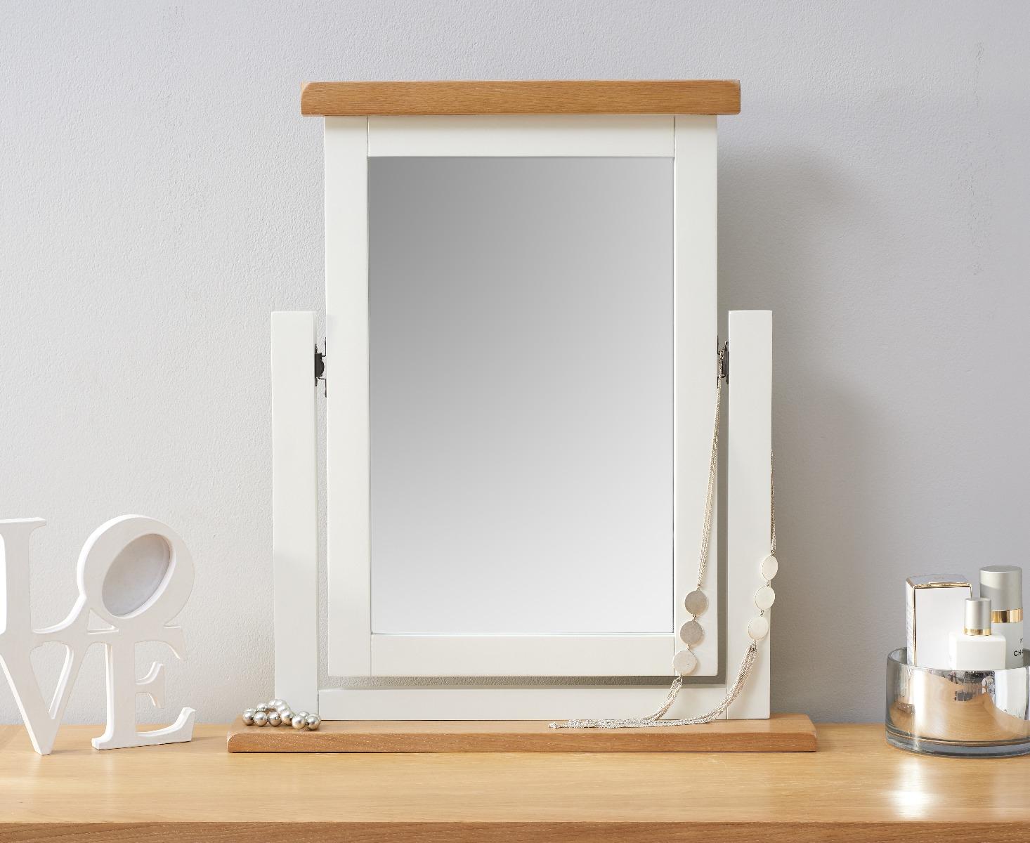 An image of Ellen Oak and White Trinket Mirror