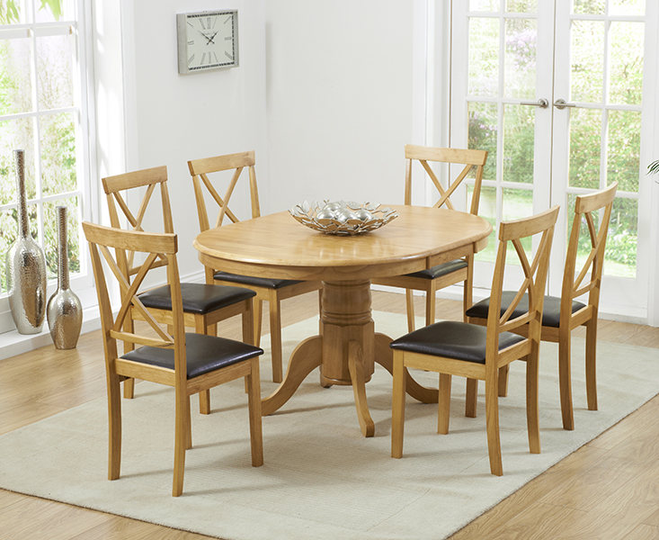 Epsom Pedestal Extending Dining Table with Chairs