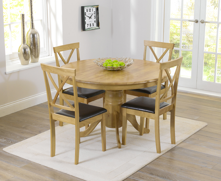 Epsom 120cm Round Pedestal Dining Set with Chairs