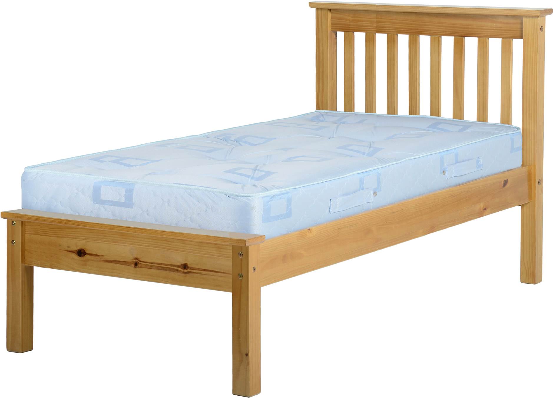Monaco Low Foot End Solid Pine Single Bed