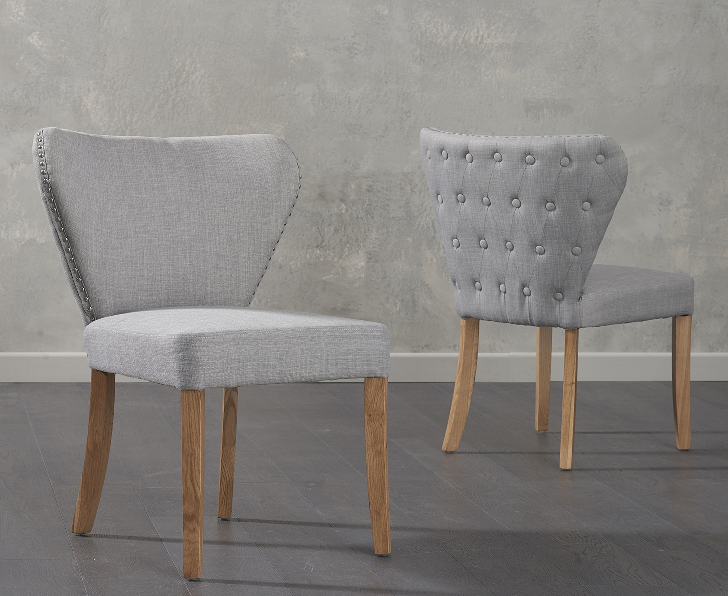 Photo of Imogen grey fabric dining chair