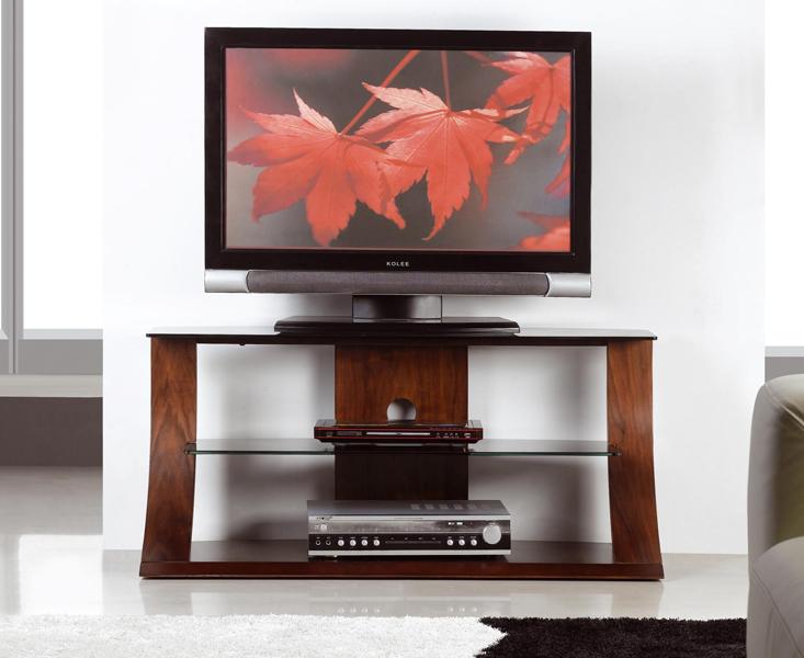 Curve 110cm Walnut TV Stand