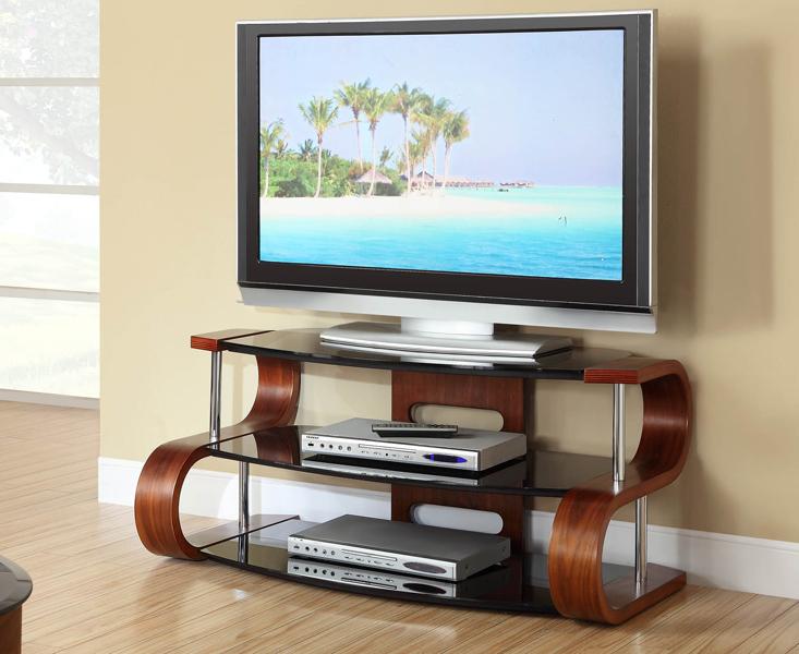 Curve 110cm Walnut S TV Stand