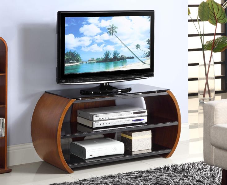 Curve Walnut TV Unit