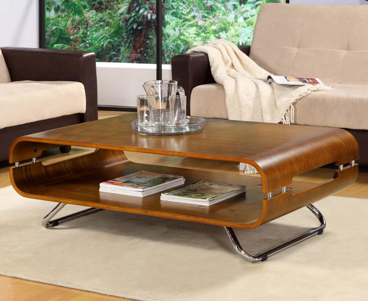 Curve Walnut Coffee Table