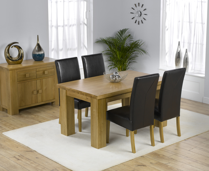 Kentucky 150cm Oak Dining Table with Rustique Chairs