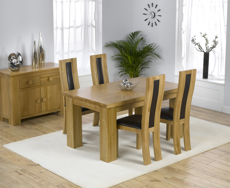 Kentucky 150cm Oak Dining Table with Toronto Chairs