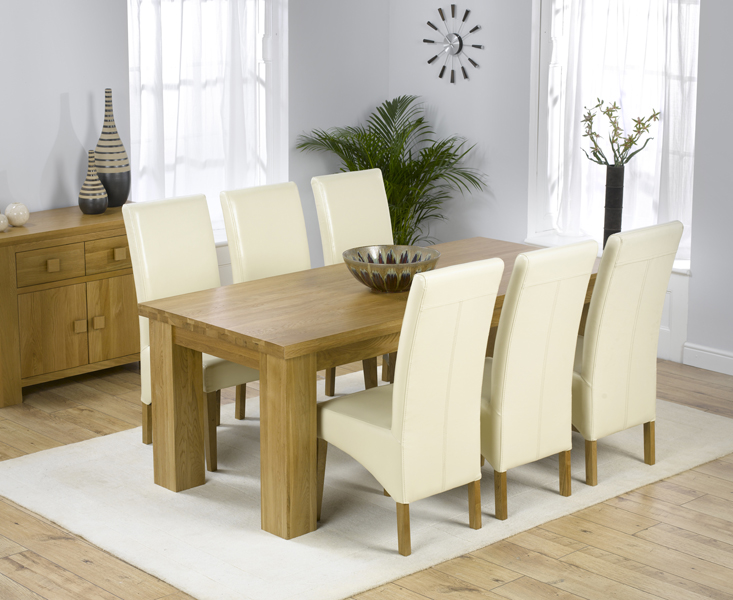 Kentucky 200cm Oak Dining Table with Cannes Chairs
