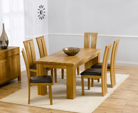 Kentucky 150cm Oak Dining Table with Montreal Chairs