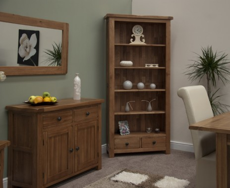 Rustic Oak Bookcases