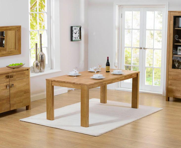 Lisbon 150cm Oak Dining Table
