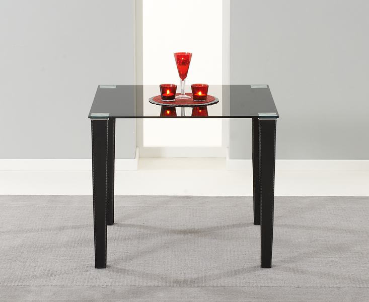 Madison 90cm Black Glass Dining Table