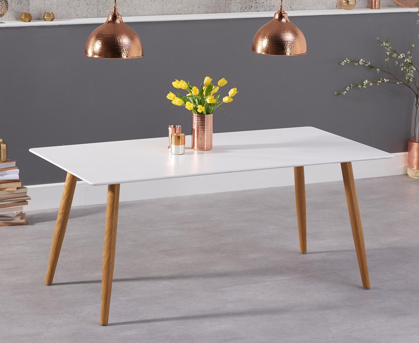 An image of Maida Vale 180cm Matt White Dining Table