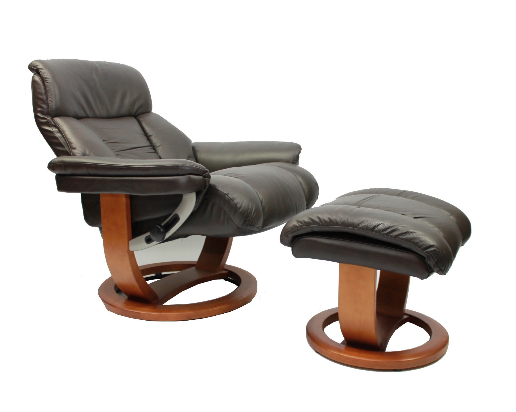 Buy cheap Leather swivel reclining chair pare Chairs