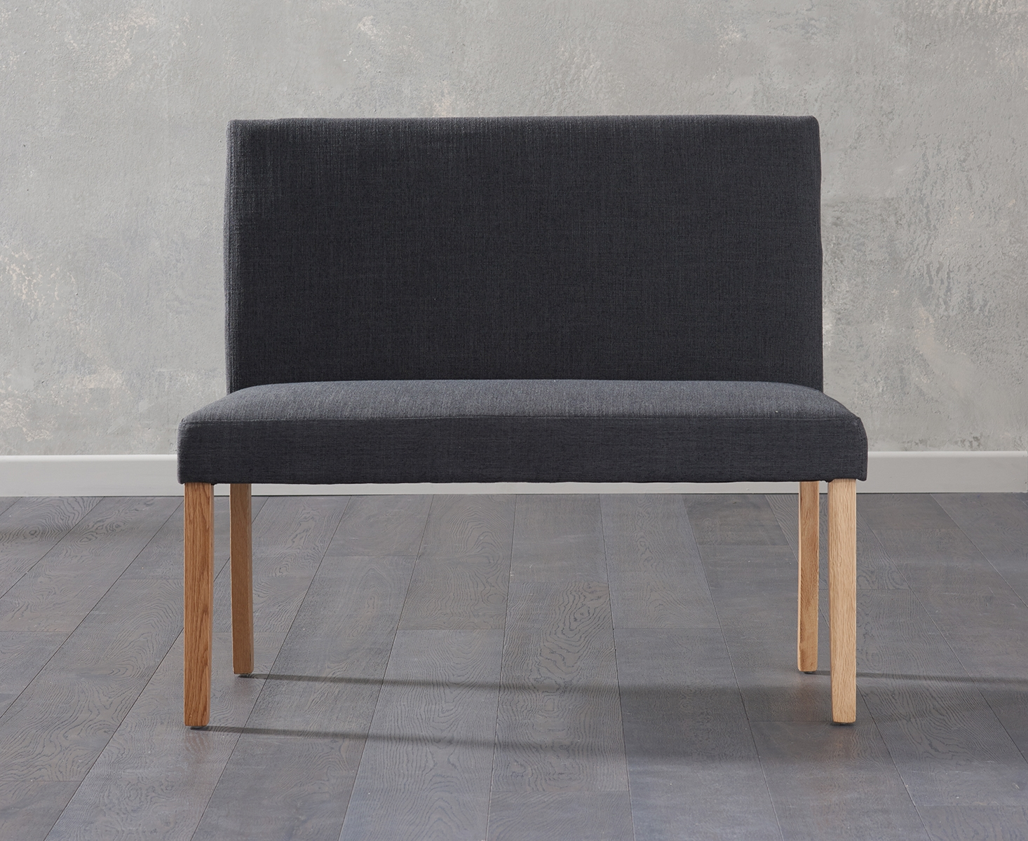 An image of Mia Small Black Bench With Back