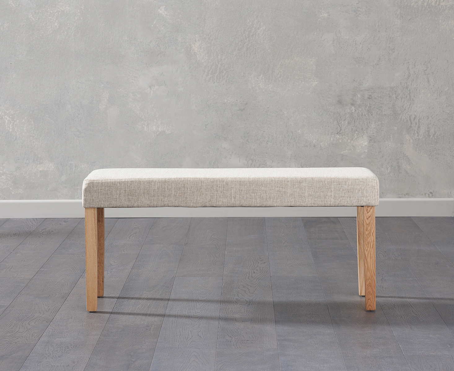 An image of Mia Small Cream Bench