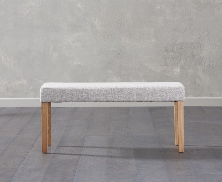 An image of Mia Small Grey Bench