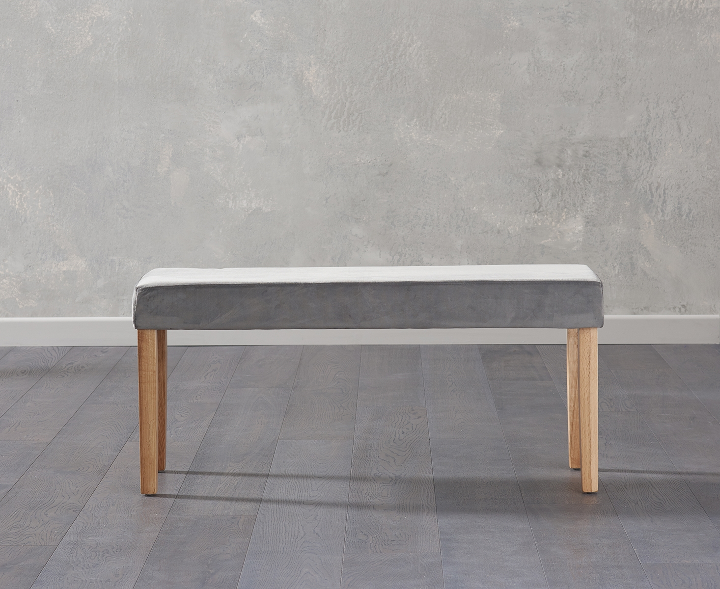 An image of Mia Small Grey Velvet Bench