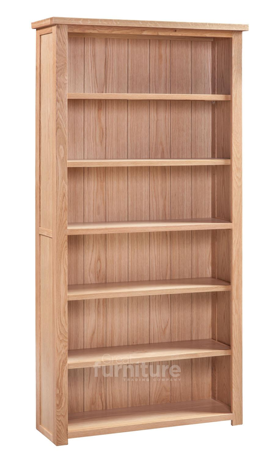 Melrose Oak Large Bookcase
