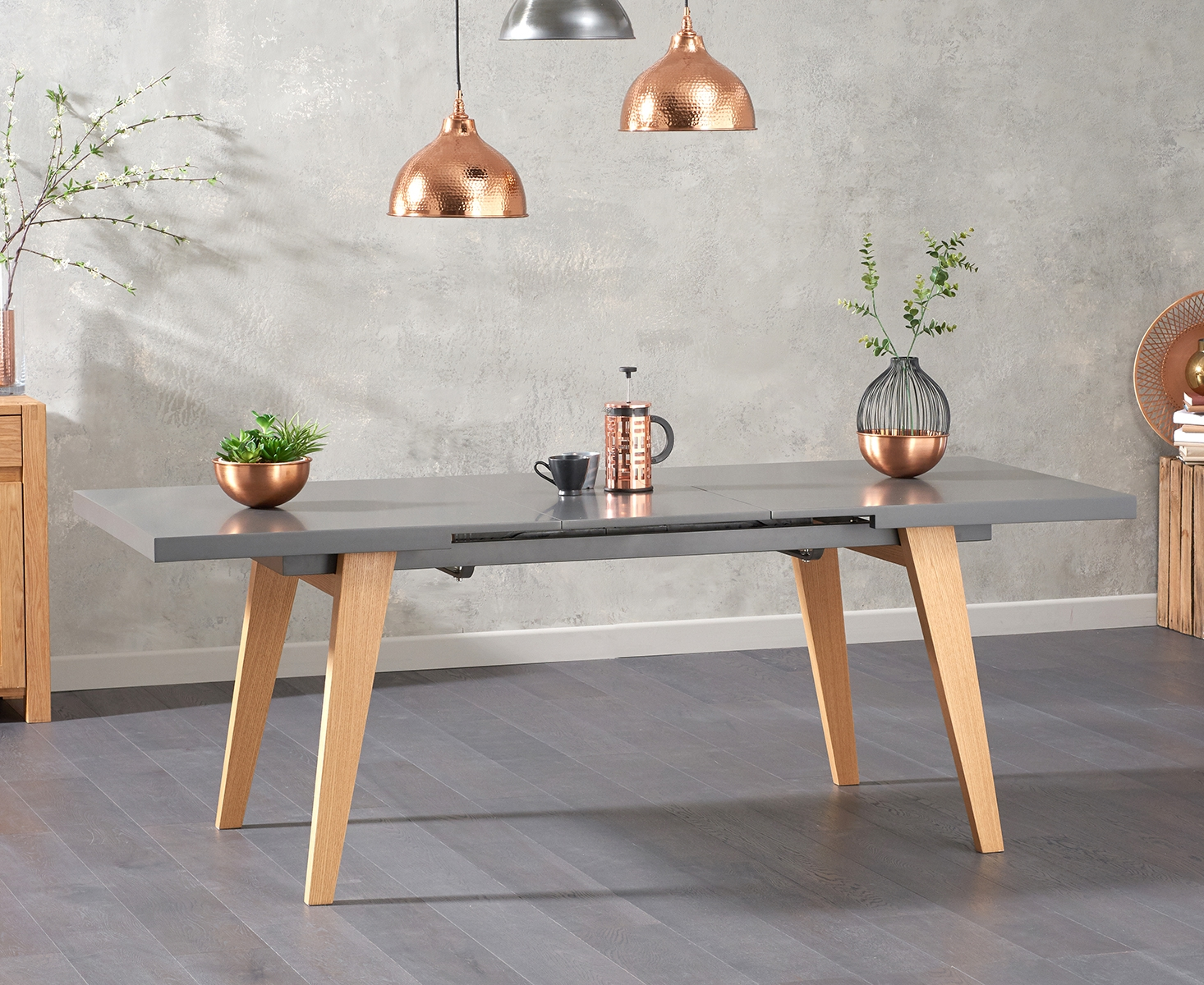 Nicole Extending Grey Dining Table