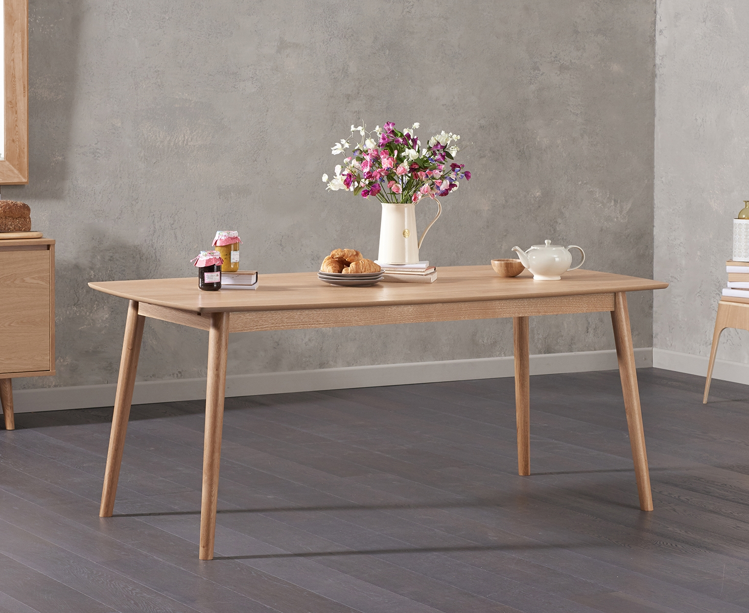 Newark 180cm Oak Dining Table