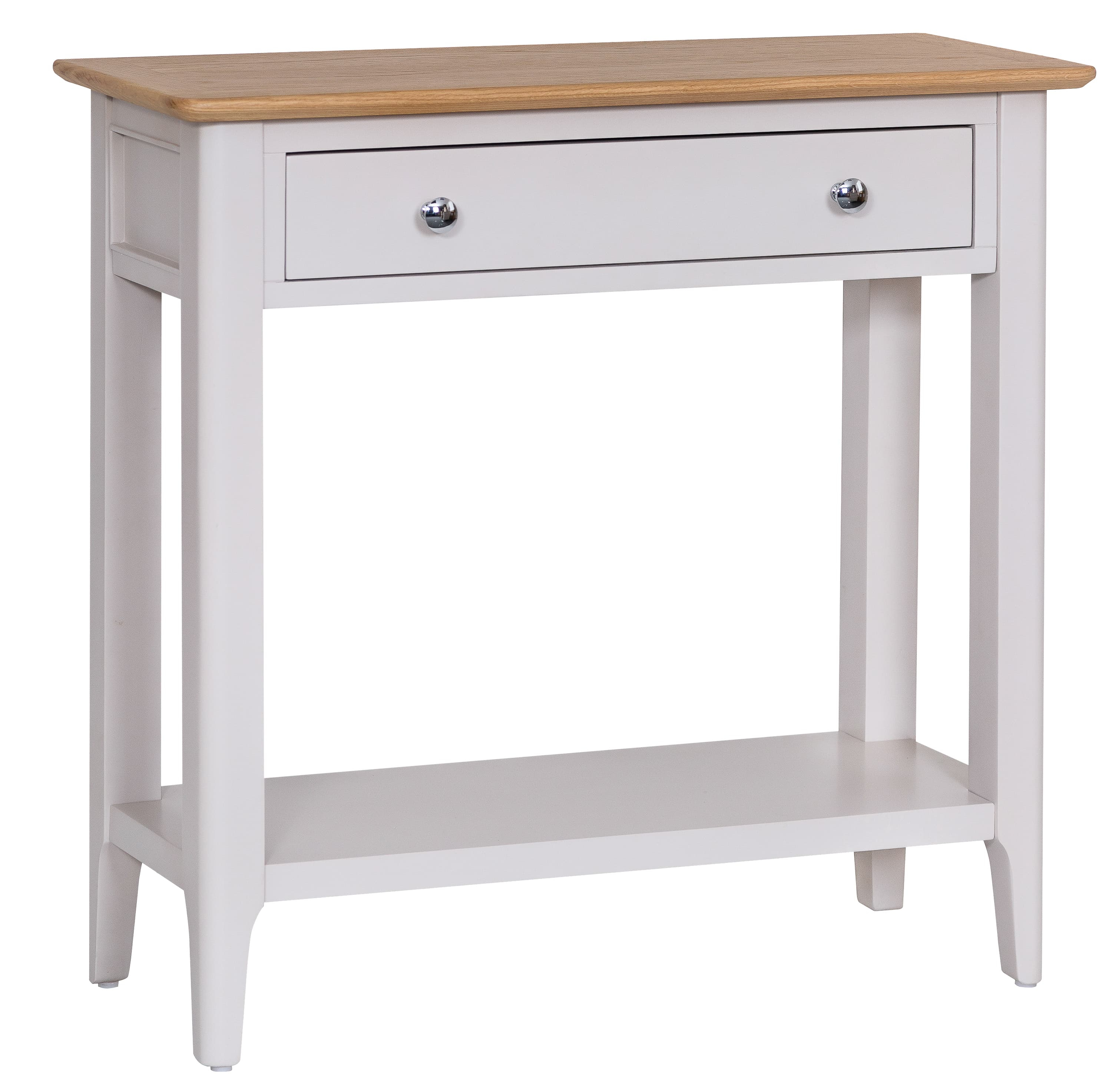 Product photograph showing Diego Oak And Grey Console Table