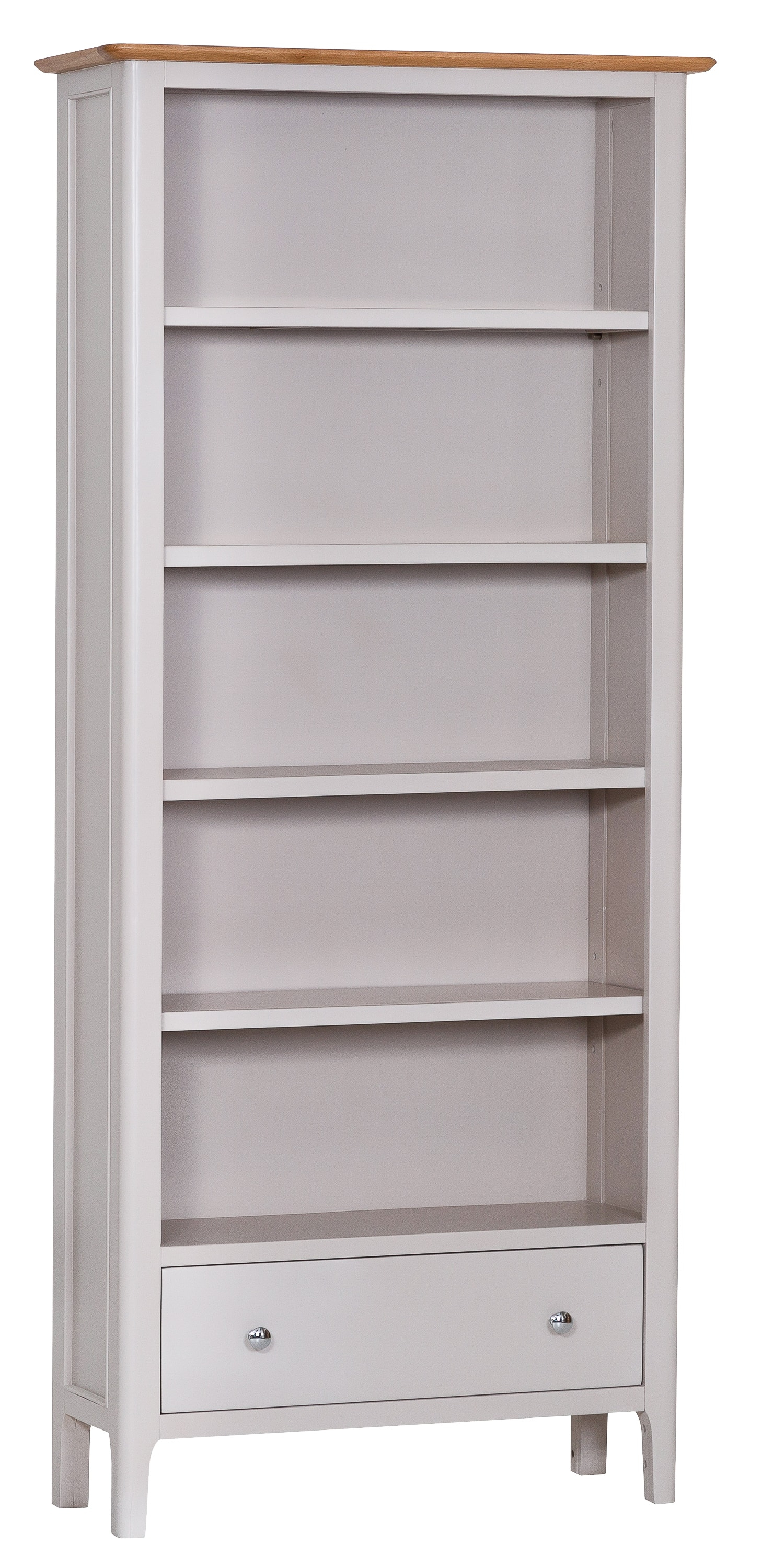 Product photograph showing Diego Oak And Grey Large Bookcase