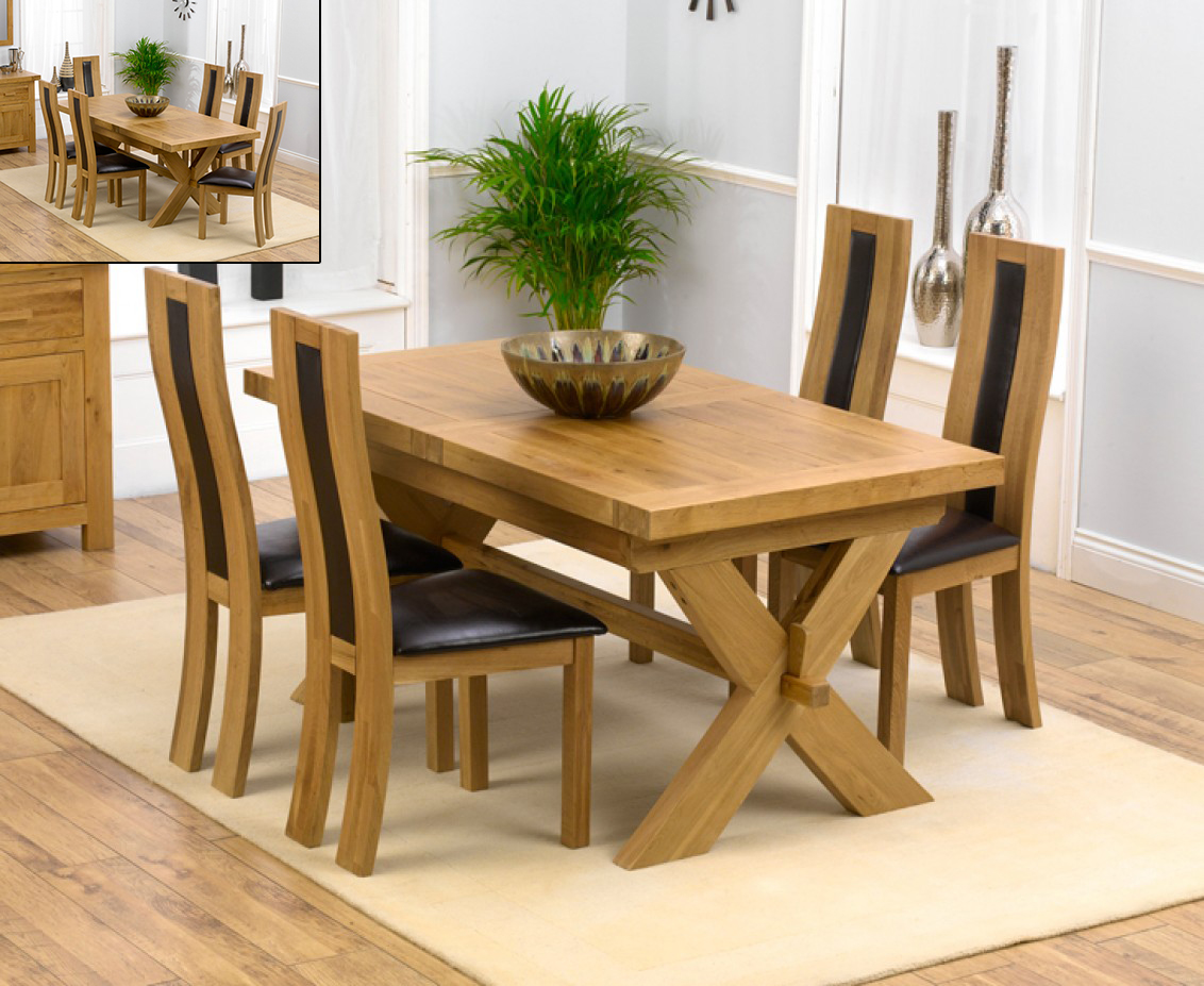 Bordeaux 200cm Solid Oak Extending Dining Table with Toronto Chairs