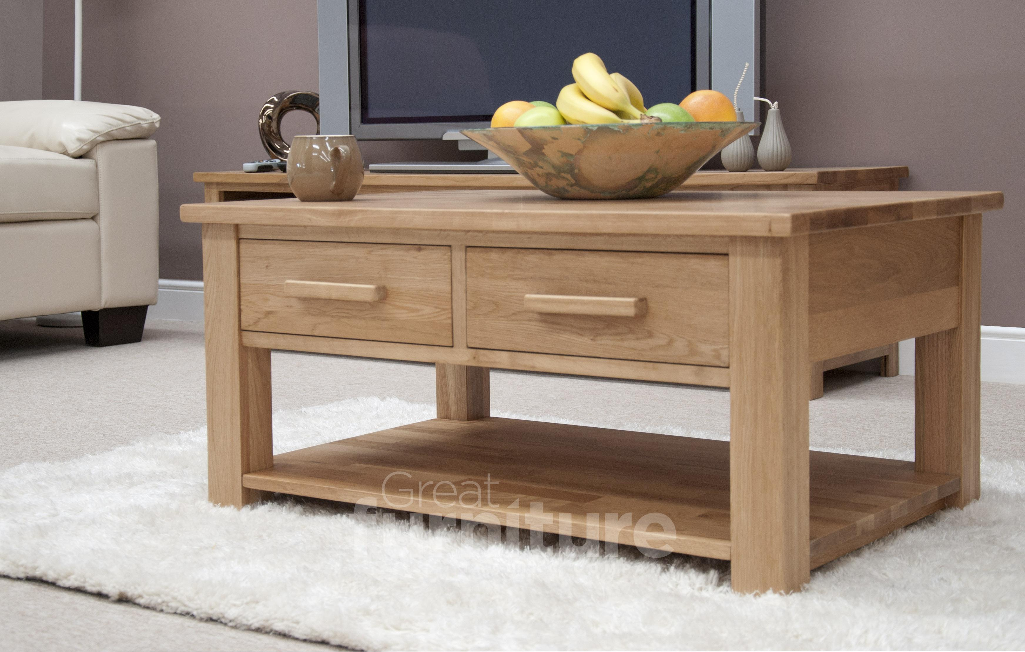 Opus Oak Two-Drawer Coffee Table