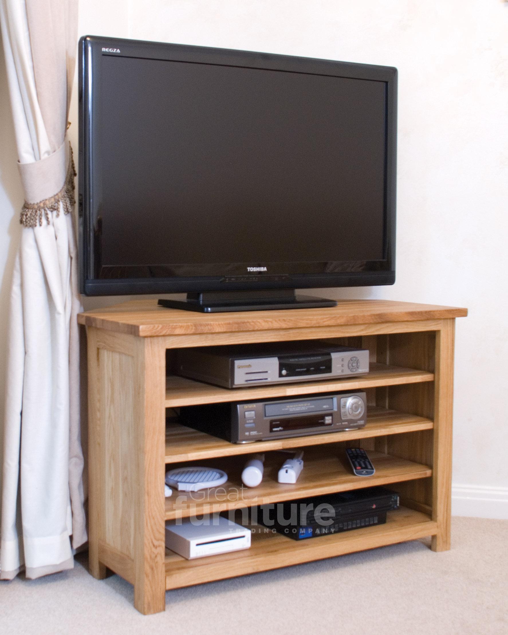 Opus Oak Corner TV Unit