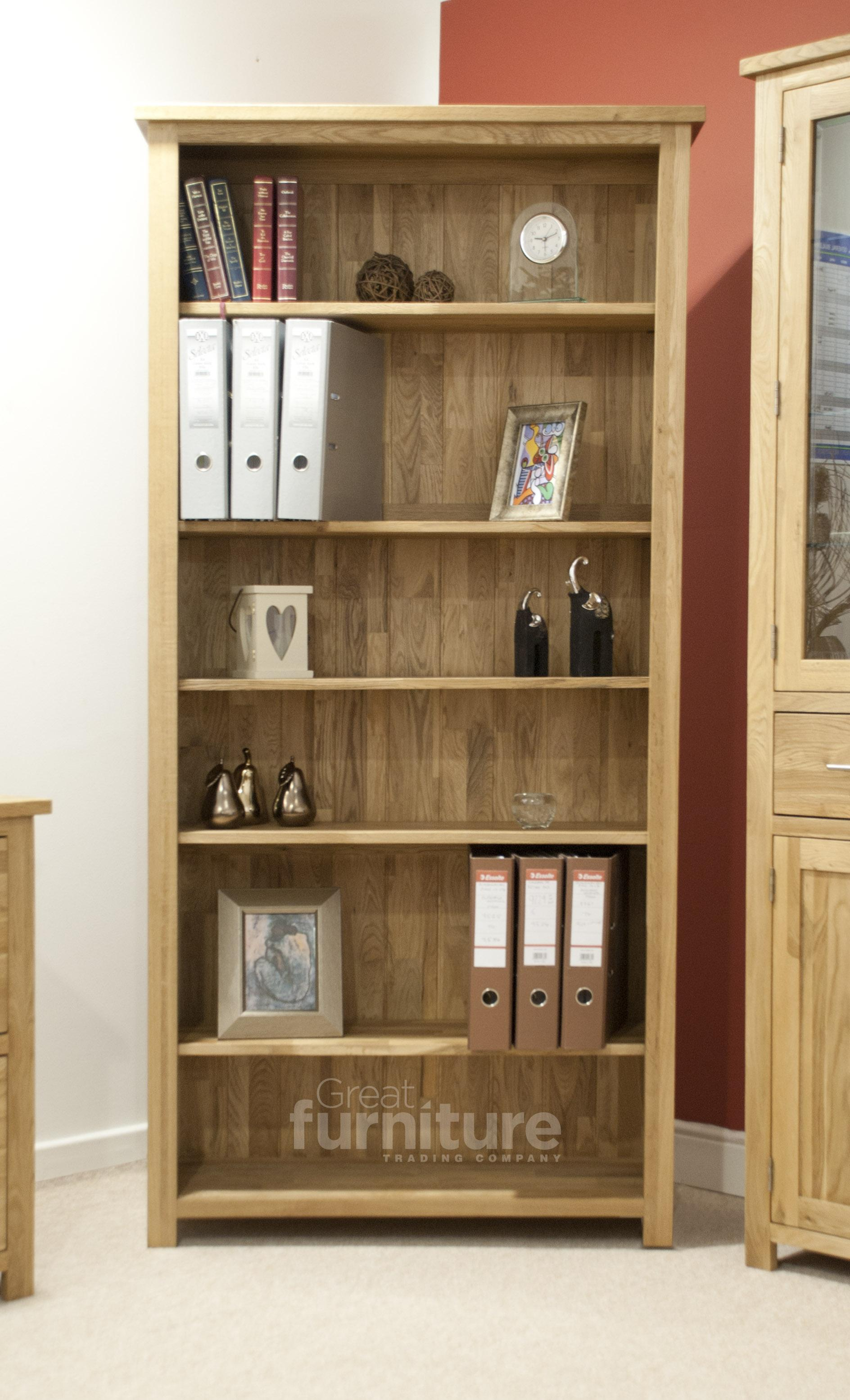 Opus Oak Large Bookcase